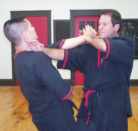Sifu Will Parker demonstrates a WingTsun Kung Fu Pak Sau / Sut Sau technique on Sifu Steve Chan