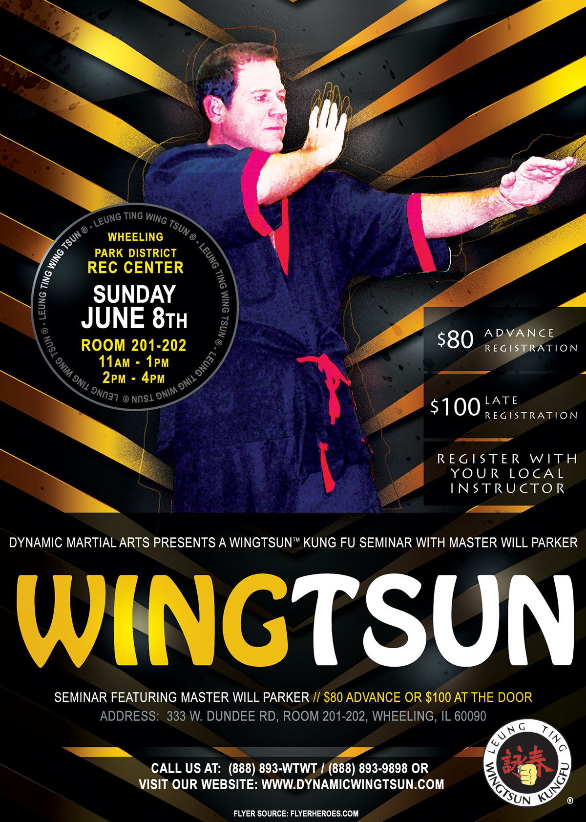 WingTsun Kung Fu Seminar with Master Will Parker in Chicago, June 8, 2014