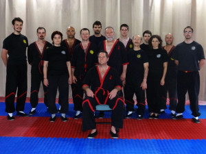 Photo: WingTsun Kung Fu Instructor Seminar with Master Will Parker in Des Plaines, Illinois - In front (center): Master Will Parker - In back (l-r): Sihing Eric Galicia, Sifu Ben Stevens, Sije Victoria Kofman, Sifu Claudio Mascarenhas, Sifu Guerman Atanassov, Sihing Leonard Coppedge, Master Mike Adams, Sifu Hunter Watts, Sifu Brian Carter, Sihing Sam Brucker, Sije Ana Genkova (Galicia), Sifu Jason Bolanz, Sihing Damian Rickert